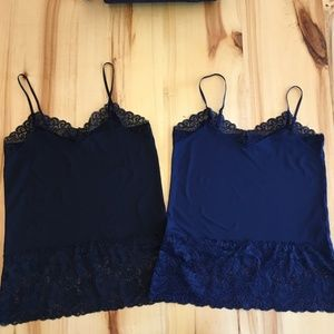 Never worn! Two Lace Trim Camis